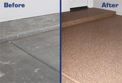 Garage floor coatings color options